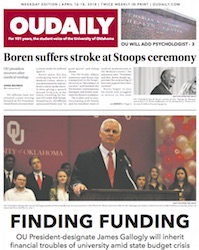 OU Daily in print, 1-year subscription
